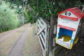 Stare skrzynki pocztowej obszar wiejski — Zdjęcie stockowe