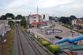 Town railway station in Malaysia — Stock Photo