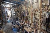 Interni vecchi di magazzino — Foto Stock