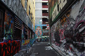 Graffiti walls at side street Melbourne — Stock Photo
