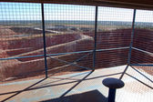 Tourist lookout at open pit gold mine — Stock Photo