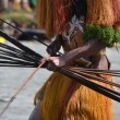 Stock Photo: Mwith bow and arrow traditional tribal weapon