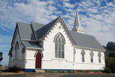 White timber church building — Stock Photo