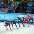 Stock Photo: Short-trek speed skating at XXII Winter Olympic Games Sochi 2014