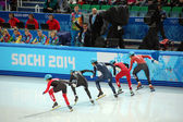 Short-trek speed skating at XXII Winter Olympic Games Sochi 2014 — Stock Photo