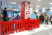 Rostov region exhibition stand at XXII Winter Olympic Games Soch — Stock Photo