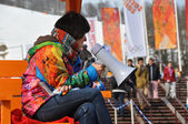 Volunteer at XXII Winter Olympic Games Sochi 2014 — Stockfoto