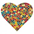 Mosaic heart illustration - Stock Photo