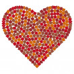 Mosaic heart illustration — Stock Photo