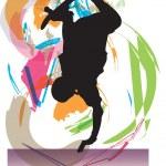 Skateboarding illustration — Stock Vector
