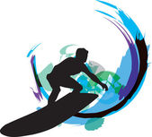 Surf. Vector illustration — Stock Vector