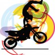 Abstract sketch of biker. Vector Illustration - Stock Vector