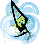 Windsurfing. Vector illustration — Stockvector