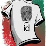 Sketch of id tee. Vector illustration — Stock Vector #13593620