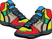 Sport shoes illustration — Stock Vector
