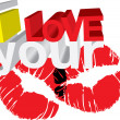 I love your kisses — Stock Vector #13854195