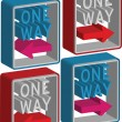 3d one way sign — Stock Vector #13867571
