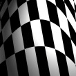 Checkered flag illustration — Stock Photo