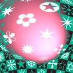 Star & flowers illustration — Stock Photo