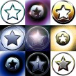Nine different stars — Stock Photo