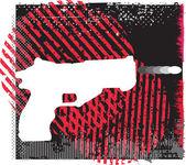 銃のベクトル図 — ストックベクタ