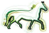 抽象的な馬の図 — ストックベクタ