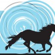 Stock Vector: Abstract horse illustration