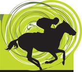 Illustration de cheval abstraite — Vecteur