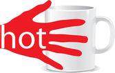 Hot mug — Stock Vector