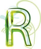Green letter — Stock Vector