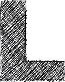 Hand zeichnen Schrift. Buchstabe l — Stockvektor