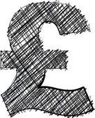 Hand draw font. Vector illustration — Cтоковый вектор