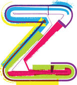 Colorful Grunge LETTER z — Stock Vector