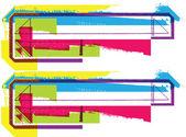 Kleurrijke grunge symbool — Stockvector