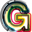 Stock Vector: Colorful Grunge LETTER G