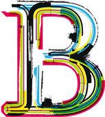 カラフルなグランジ手紙 b — ストックベクタ