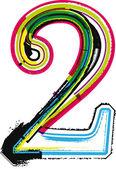 Renkli grunge sayı 2 — Stok Vektör