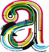 Renkli grunge mektup bir — Stok Vektör
