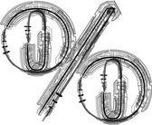 Technological font symbol — Stock Vector