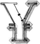 Teknolojik font sembolü — Stok Vektör