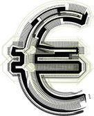 技术字体欧元符号 — 图库矢量图片