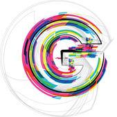 Font Illustration. LETTER G. Vector illustration — Stock Vector