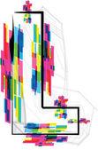 Font Illustration. LETTER L. Vector illustration — Stock Vector