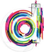 Font Illustration. LETTER d. Vector illustration — Stock Vector