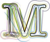 Organic Font illustration. Letter M — Stock Vector
