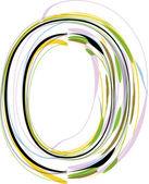 Organic Font illustration. Letter O — Stock Vector