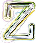 Organic Font illustration. Letter Z — Stock vektor