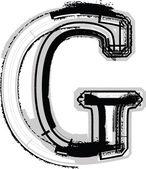 Grunge-Font. Buchstabe g — Stockvektor