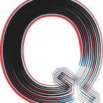 Font illustration letter Q — Stock Vector