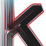 Font illustration letter k — Stock Vector